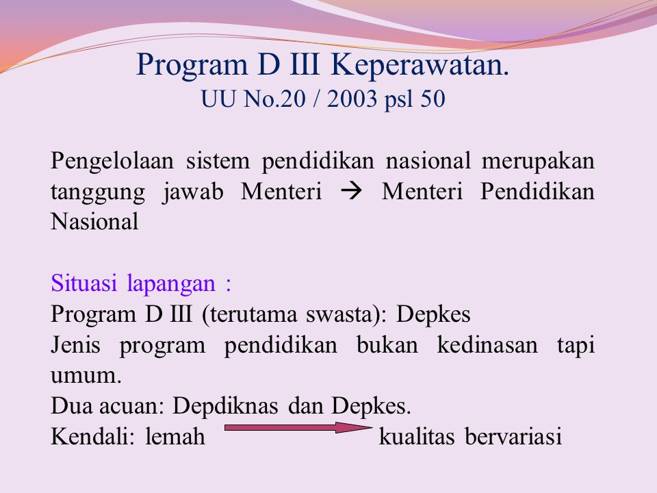Program D III Keperawatan.