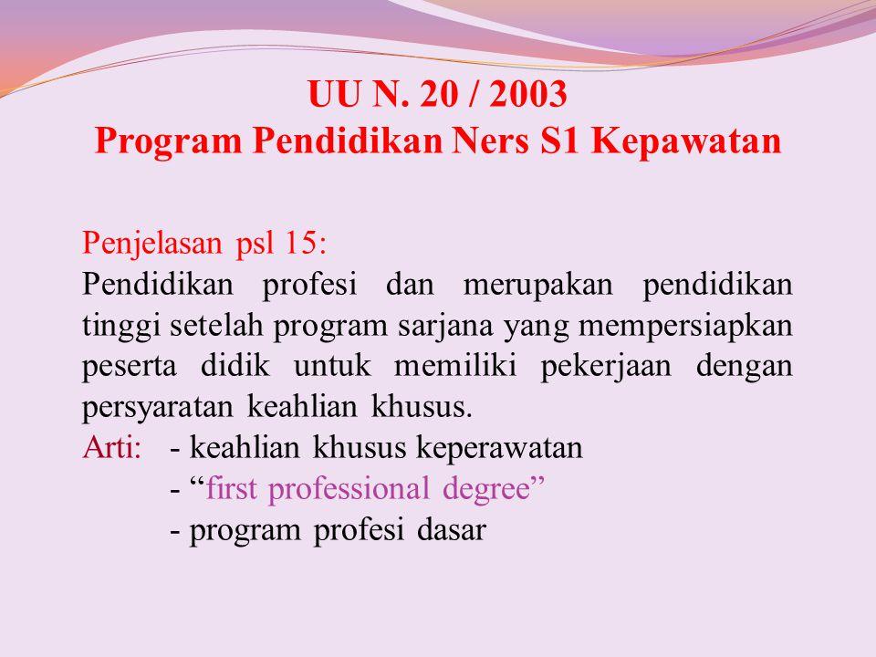 Program Pendidikan Ners S1 Kepawatan