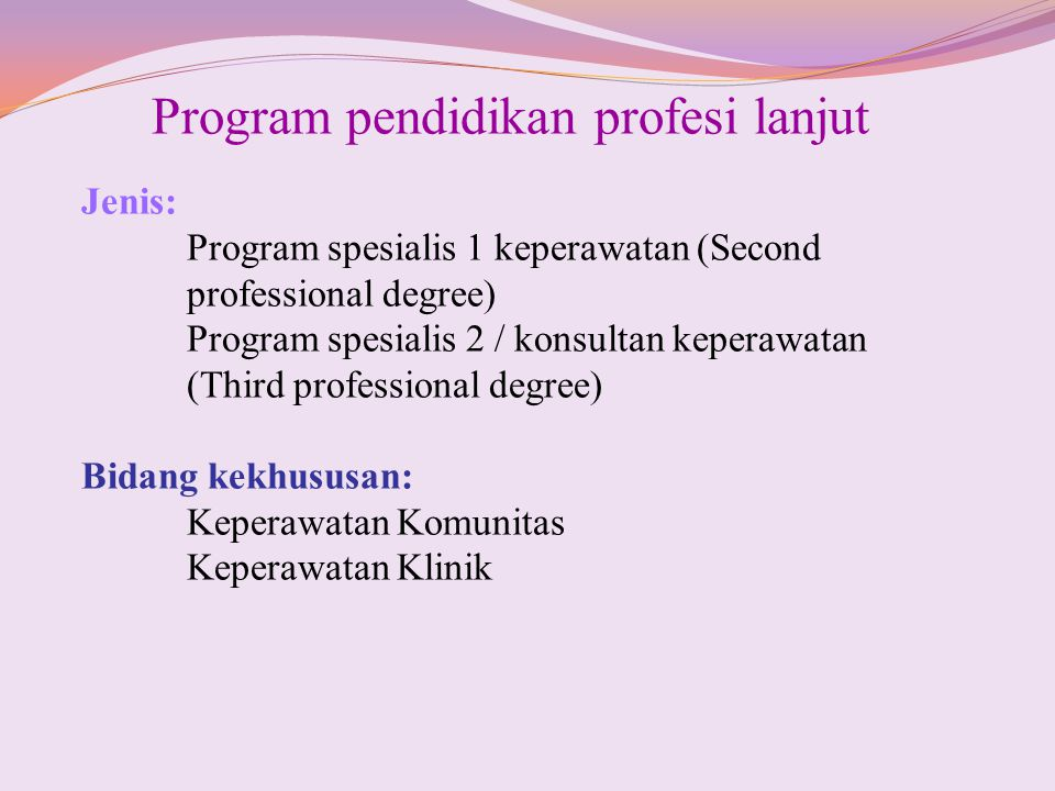 Program pendidikan profesi lanjut