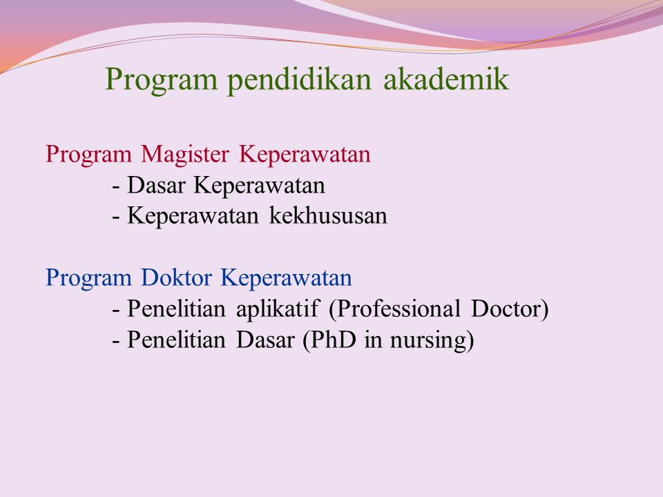 Program pendidikan akademik