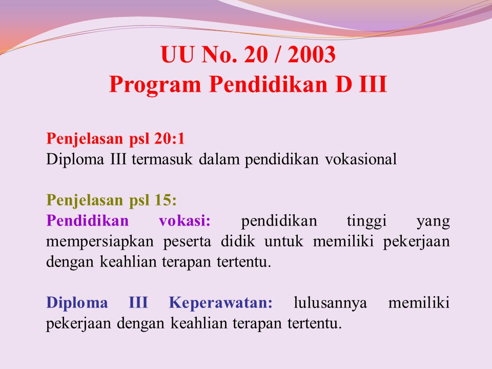 Program Pendidikan D III