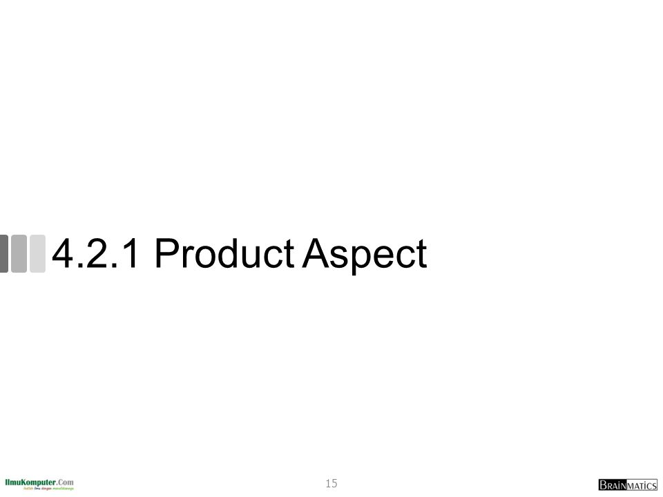 4.2.1 Product Aspect