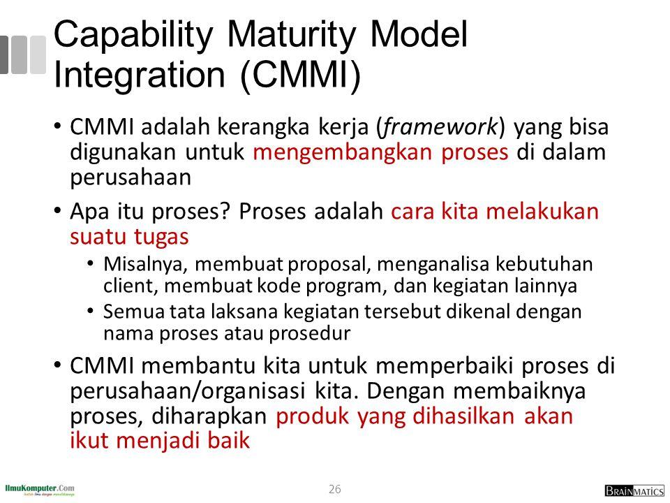 Capability Maturity Model Integration (CMMI)