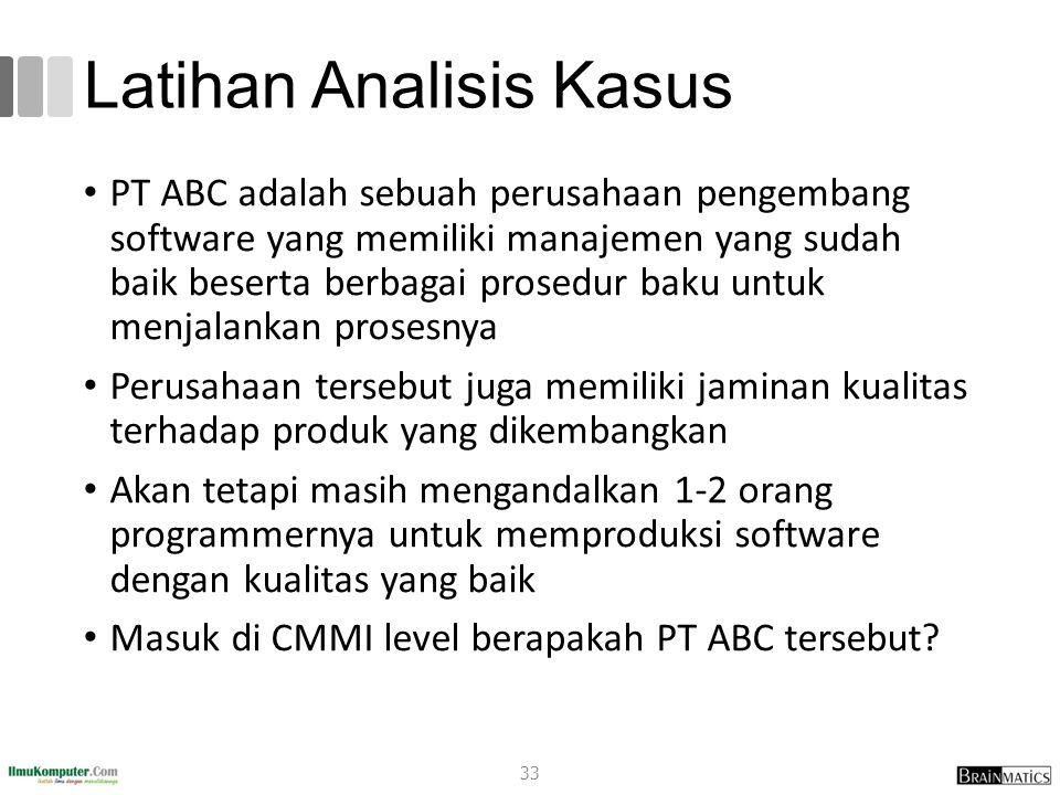Latihan Analisis Kasus