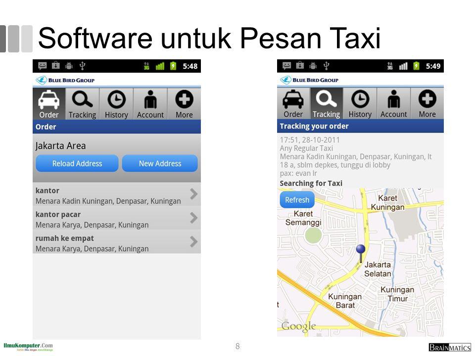 Software untuk Pesan Taxi