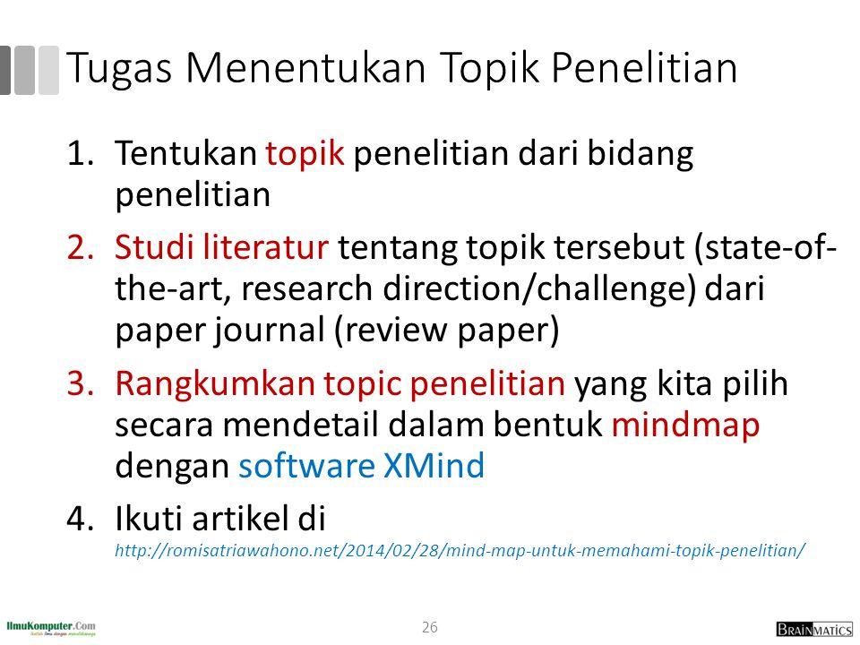 Tugas Menentukan Topik Penelitian