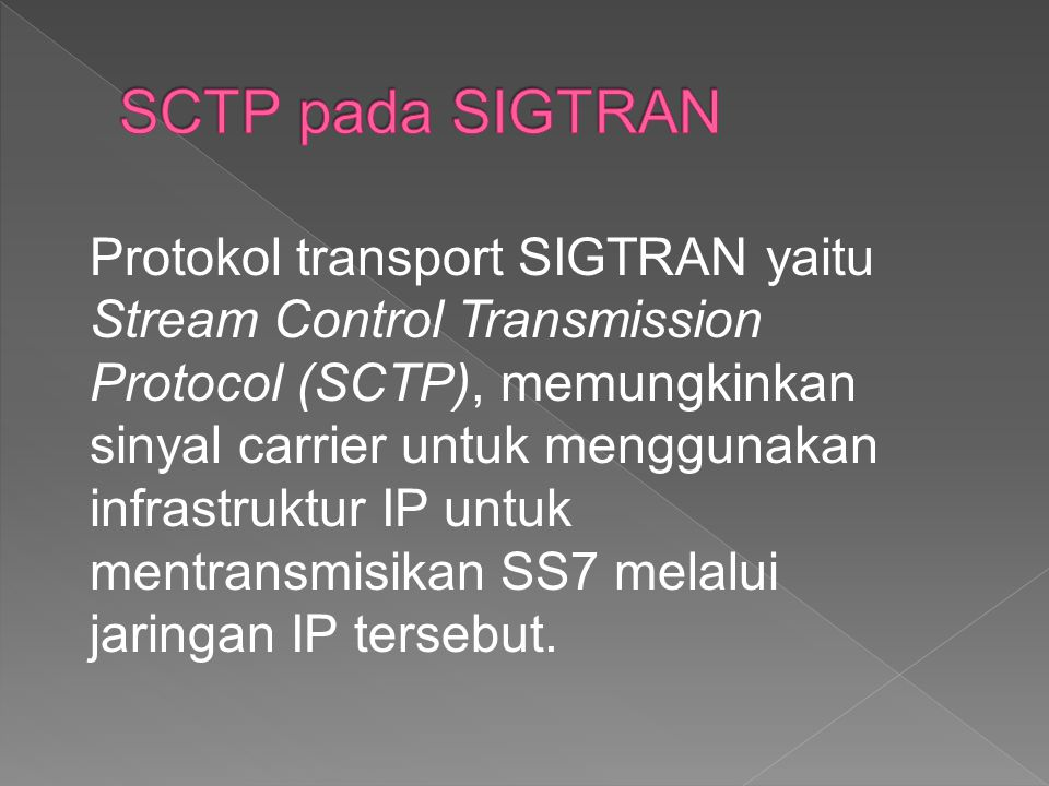 SCTP pada SIGTRAN