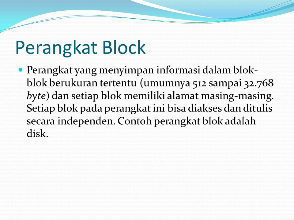 Perangkat Block