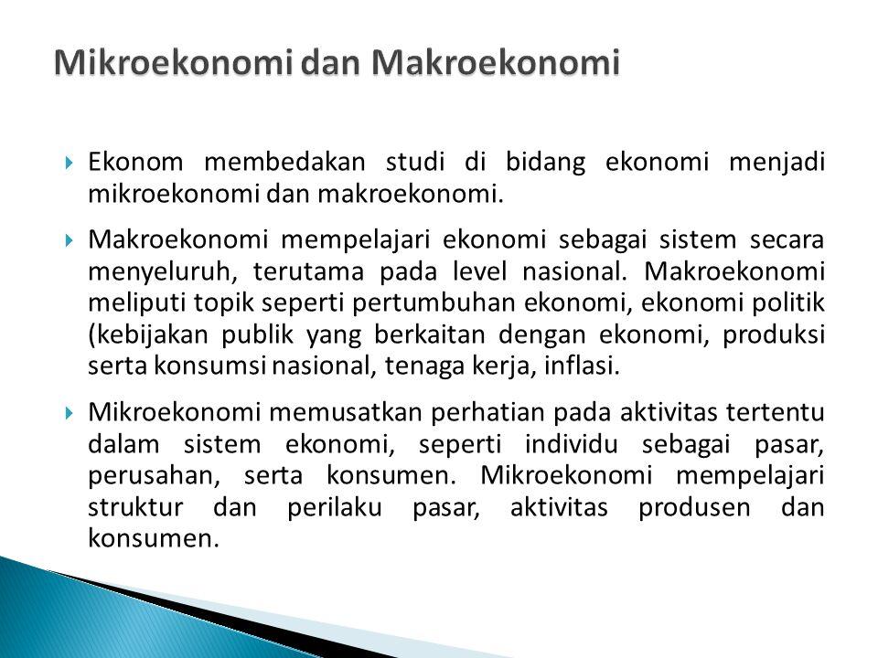 Mikroekonomi dan Makroekonomi