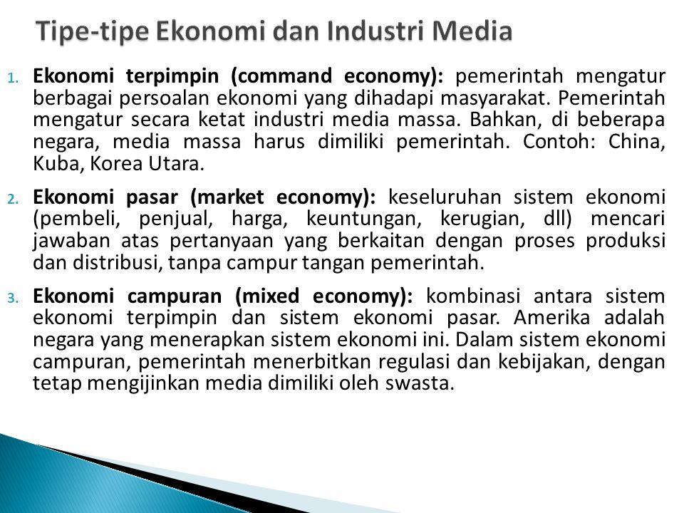 Tipe-tipe Ekonomi dan Industri Media