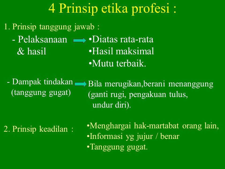 4 Prinsip etika profesi :
