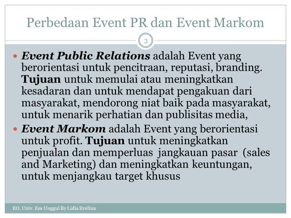 Perbedaan Event PR dan Event Markom