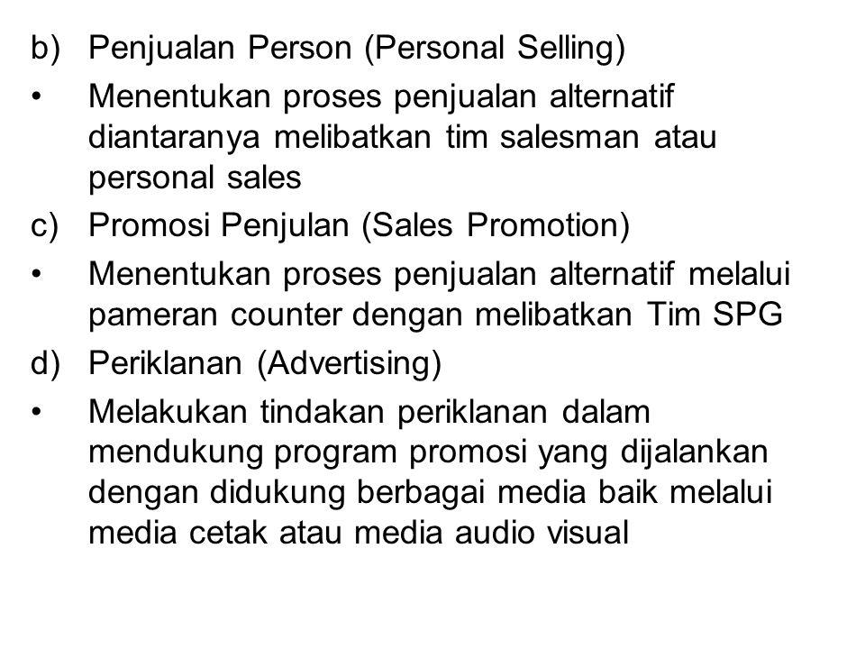Penjualan Person (Personal Selling)