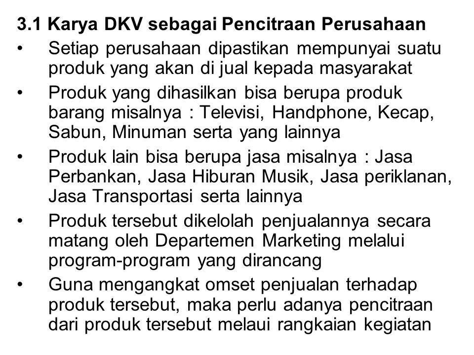 3.1 Karya DKV sebagai Pencitraan Perusahaan
