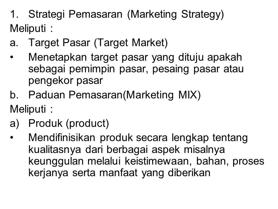 Strategi Pemasaran (Marketing Strategy)