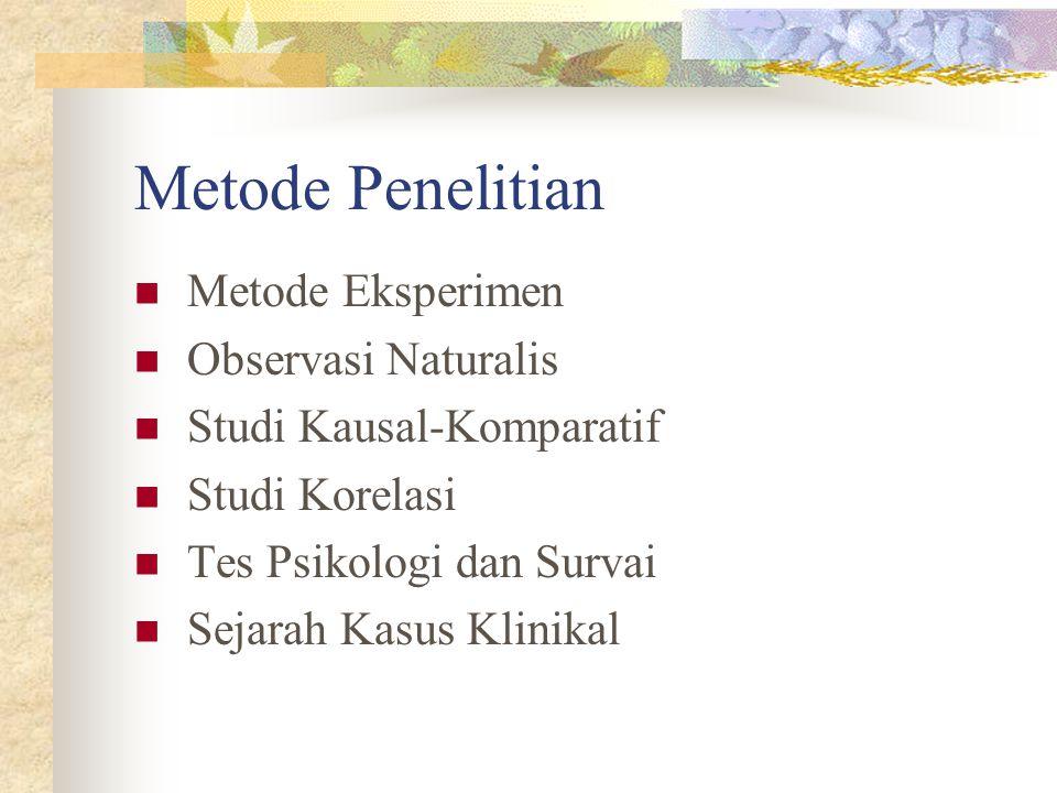 Metode Penelitian Metode Eksperimen Observasi Naturalis