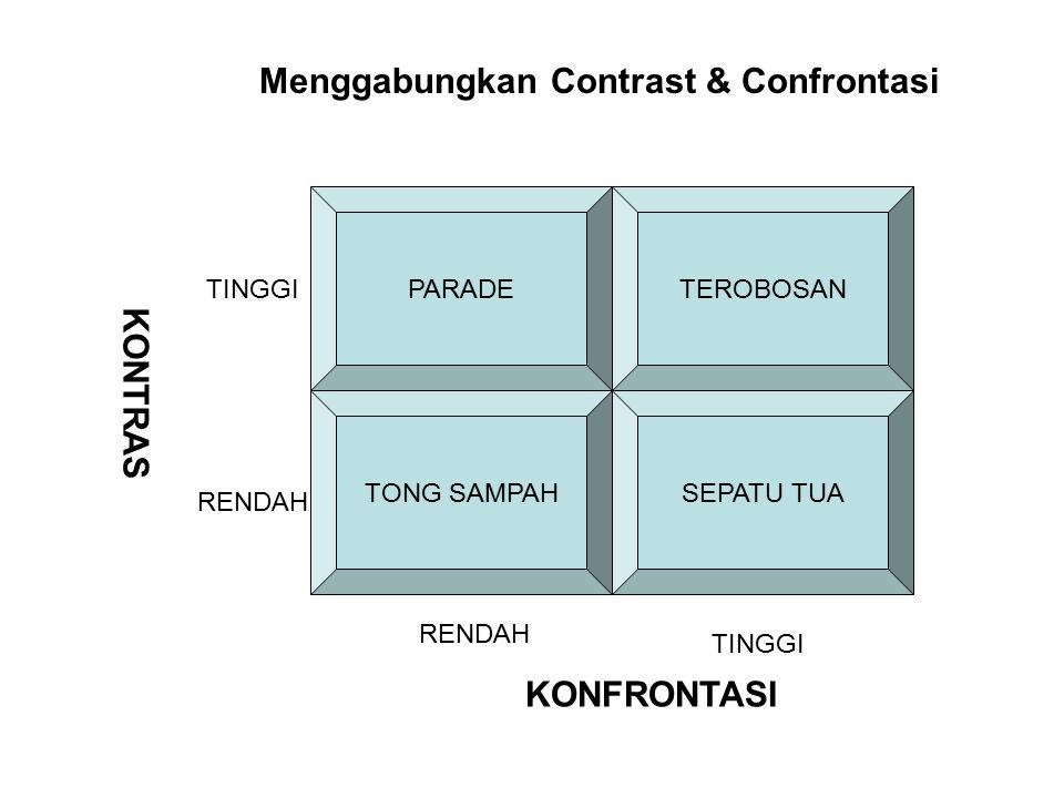 Menggabungkan Contrast & Confrontasi