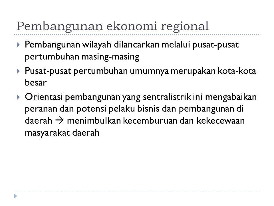 Pembangunan ekonomi regional