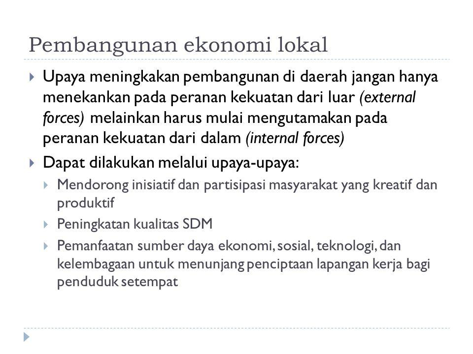 Pembangunan ekonomi lokal