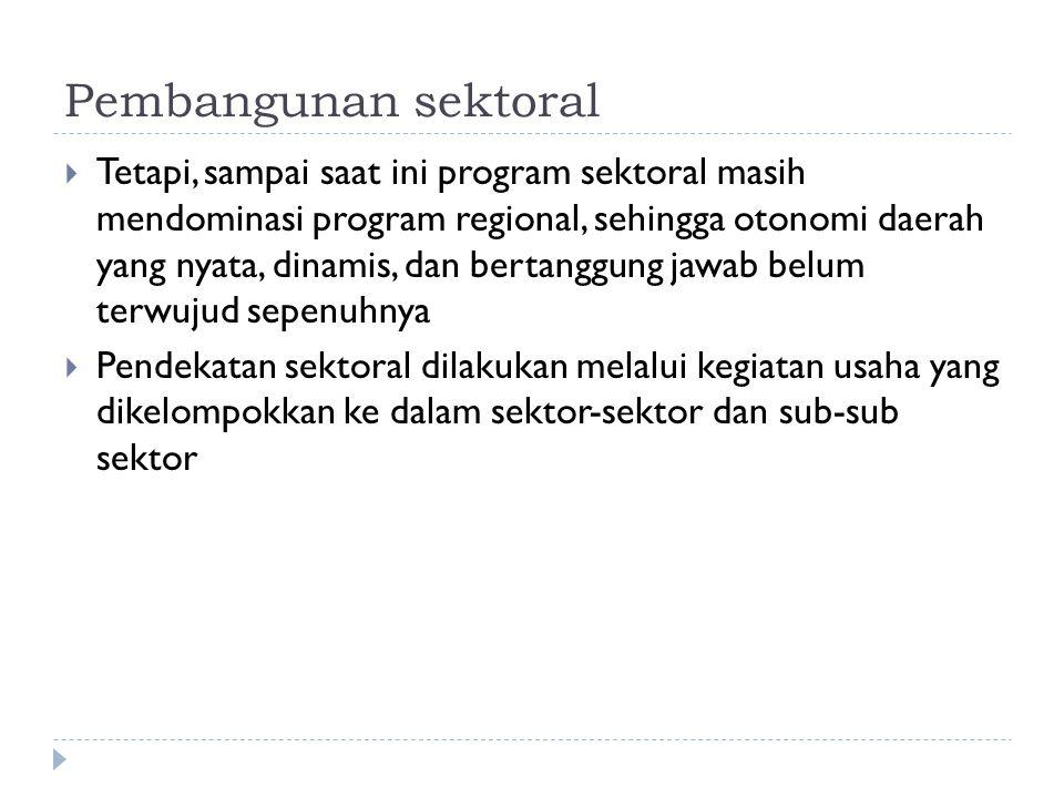 Pembangunan sektoral