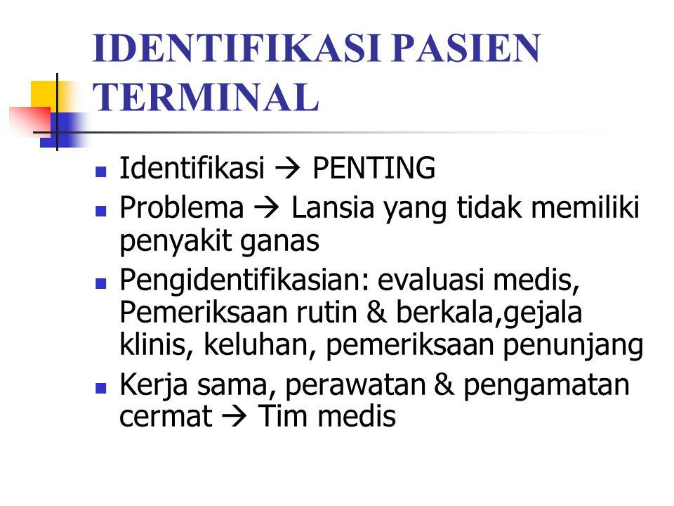 IDENTIFIKASI PASIEN TERMINAL