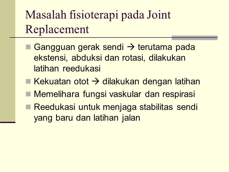 Masalah fisioterapi pada Joint Replacement