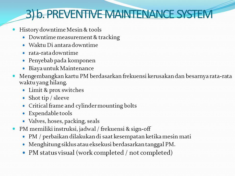 3) b. PREVENTIVE MAINTENANCE SYSTEM