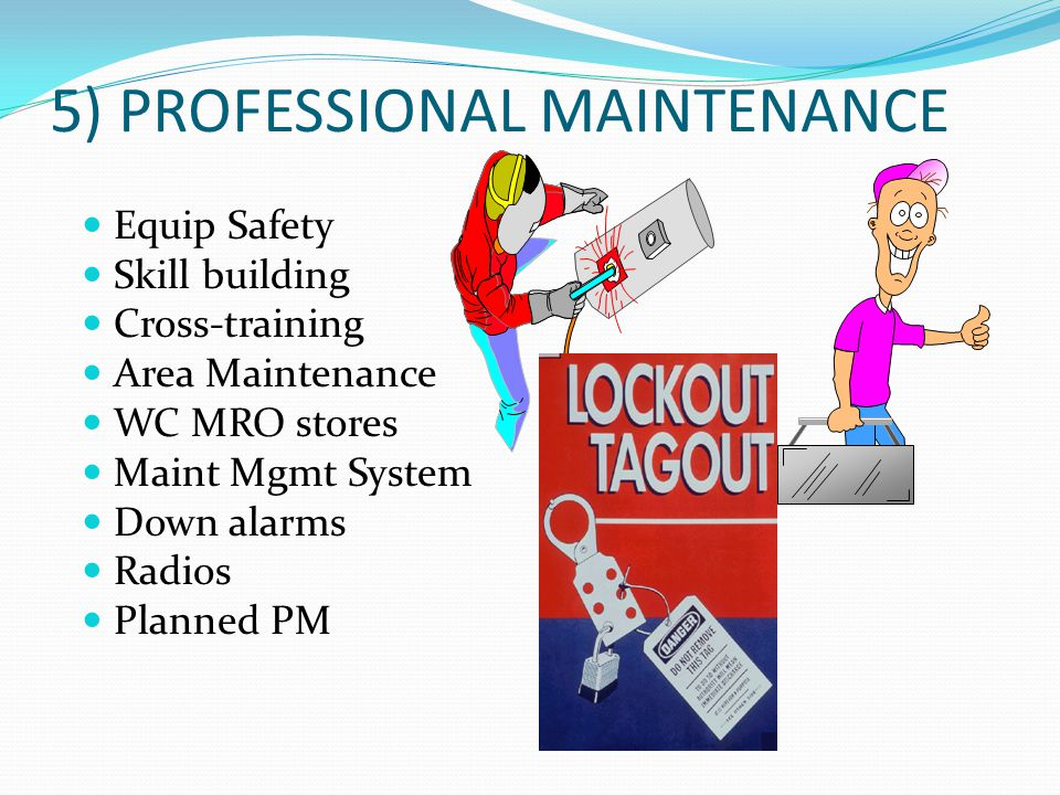 5) PROFESSIONAL MAINTENANCE