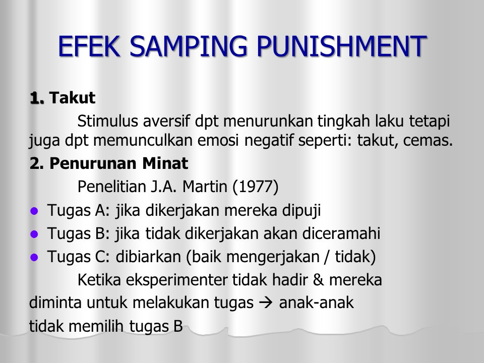 EFEK SAMPING PUNISHMENT