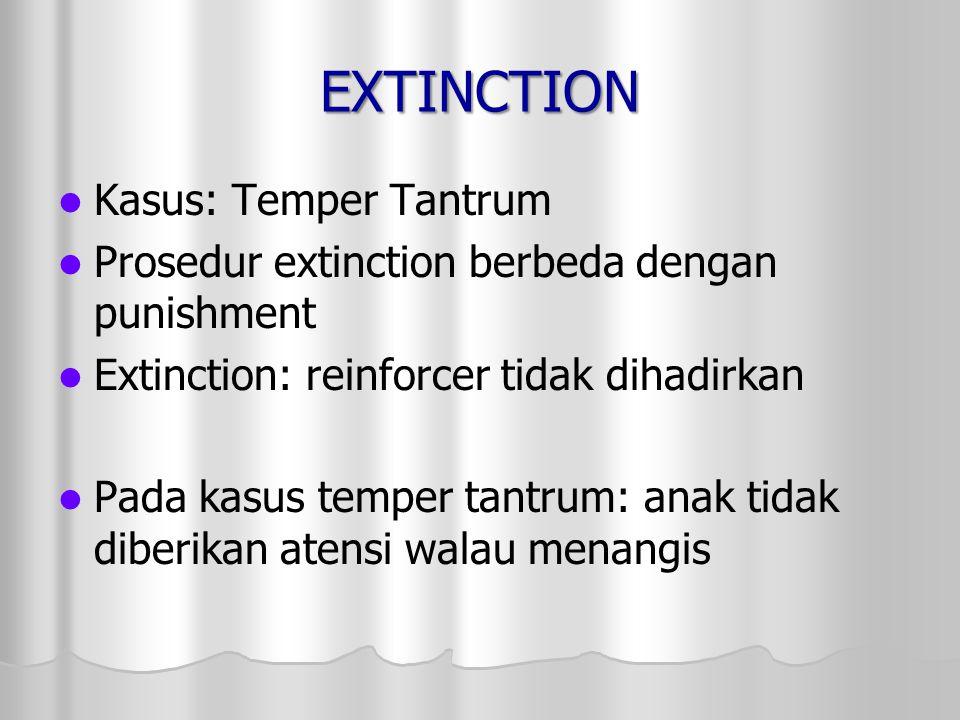 EXTINCTION Kasus: Temper Tantrum