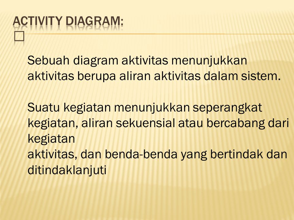 Activity DIAGRAM: 