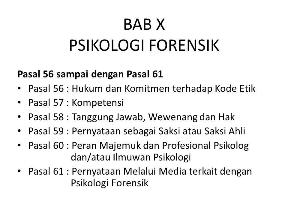 BAB X PSIKOLOGI FORENSIK