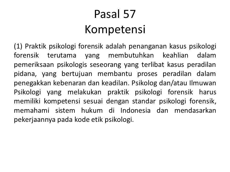 Pasal 57 Kompetensi