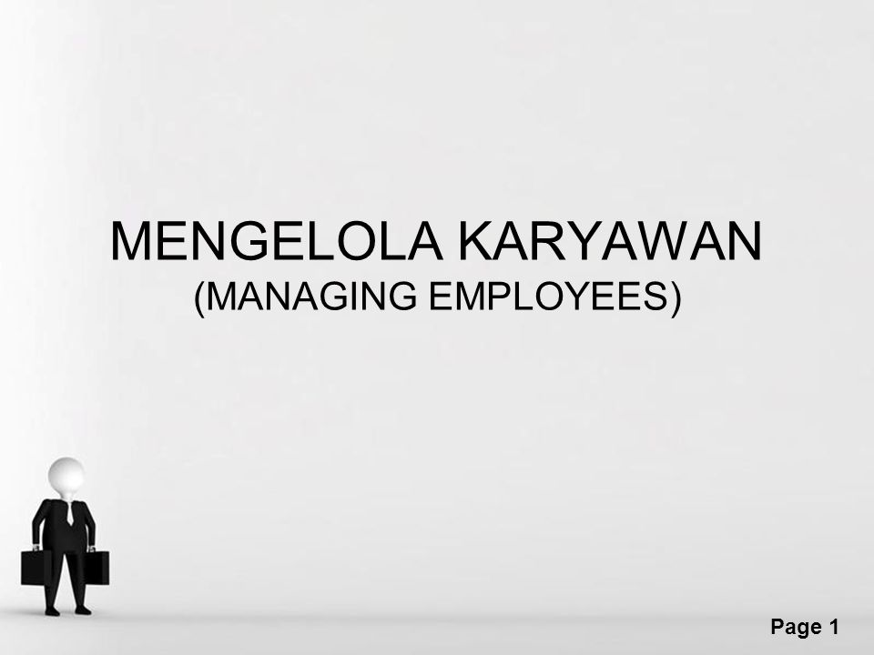 MENGELOLA KARYAWAN (MANAGING EMPLOYEES)