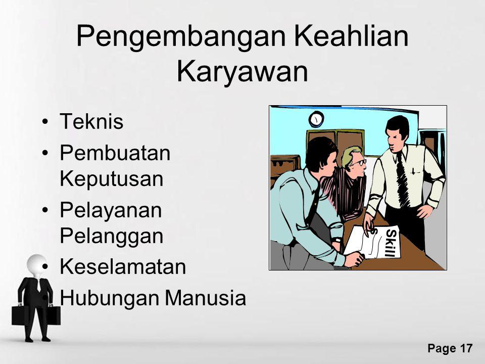 Pengembangan Keahlian Karyawan