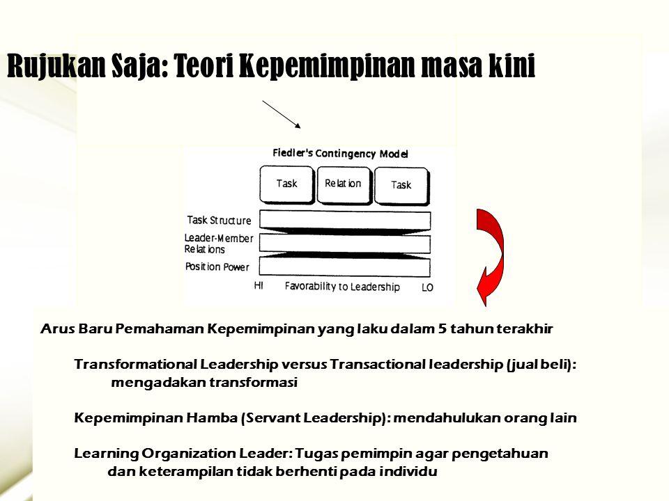 Rujukan Saja: Teori Kepemimpinan masa kini