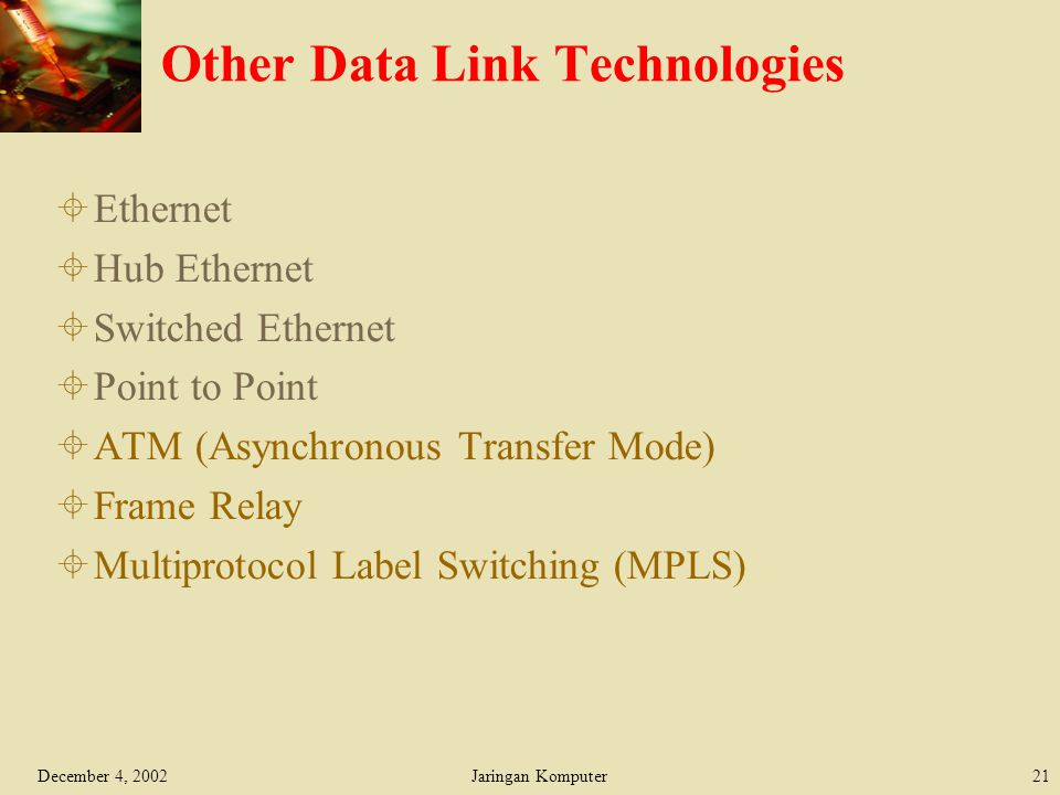 Other Data Link Technologies