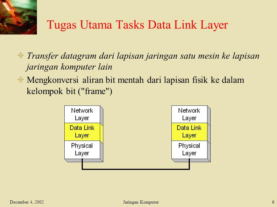 Tugas Utama Tasks Data Link Layer