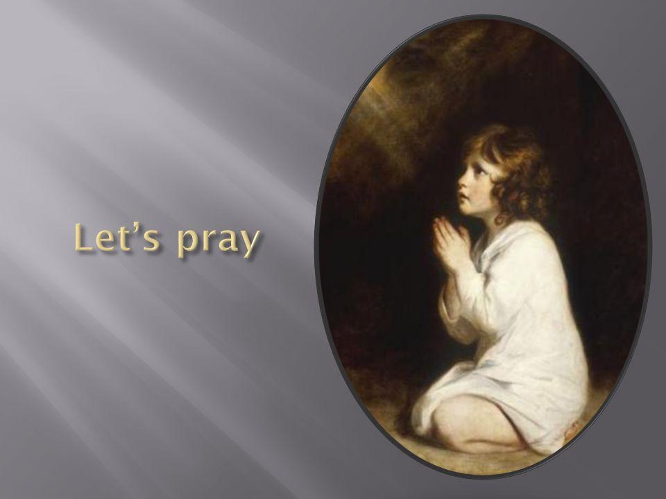 Let's pray