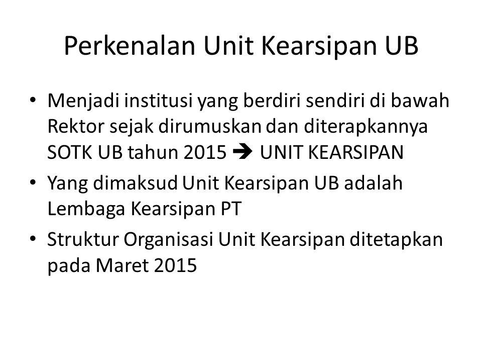 Perkenalan Unit Kearsipan UB