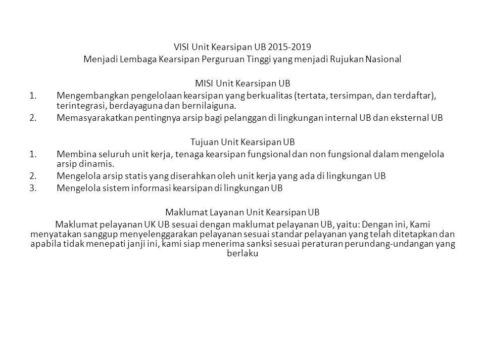VISI Unit Kearsipan UB 2015-2019