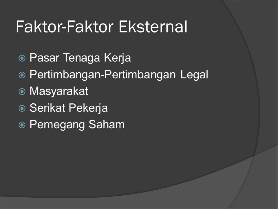 Faktor-Faktor Eksternal