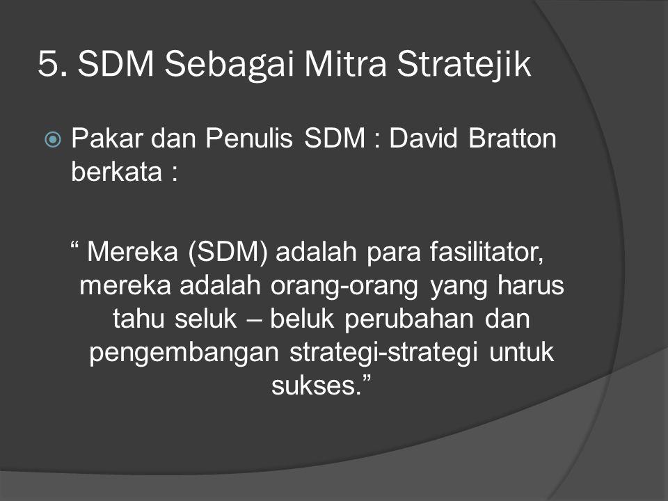 5. SDM Sebagai Mitra Stratejik
