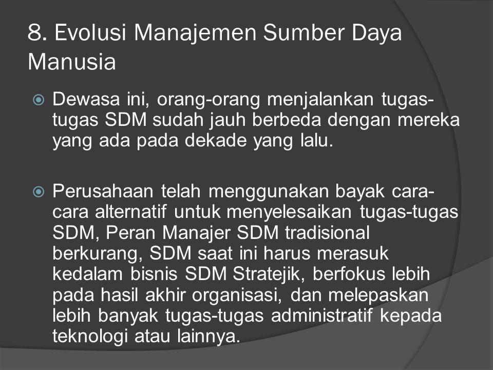 8. Evolusi Manajemen Sumber Daya Manusia