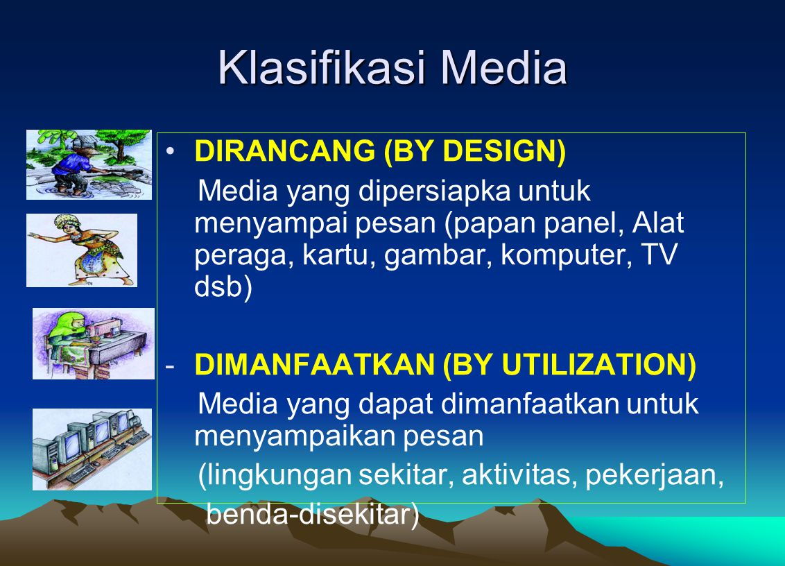 Klasifikasi Media DIRANCANG (BY DESIGN)