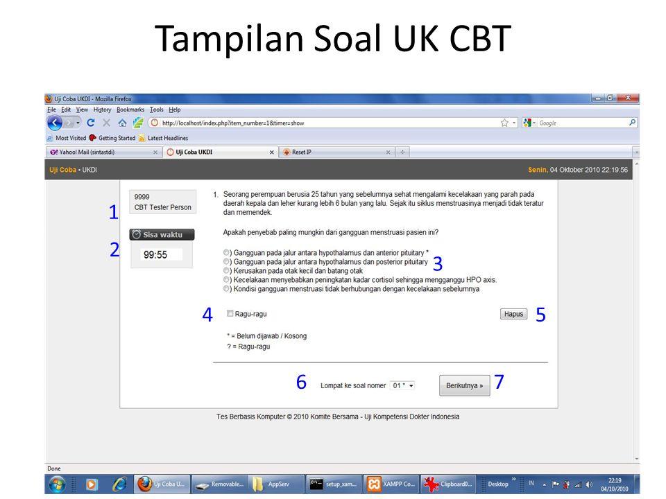 Tampilan Soal UK CBT 1 2 3 4 5 6 7