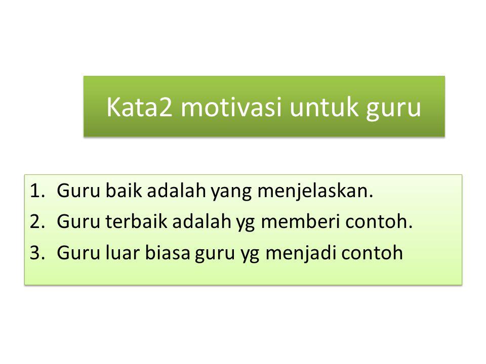 Kata2 motivasi untuk guru
