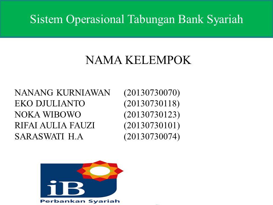 Sistem Operasional Tabungan Bank Syariah