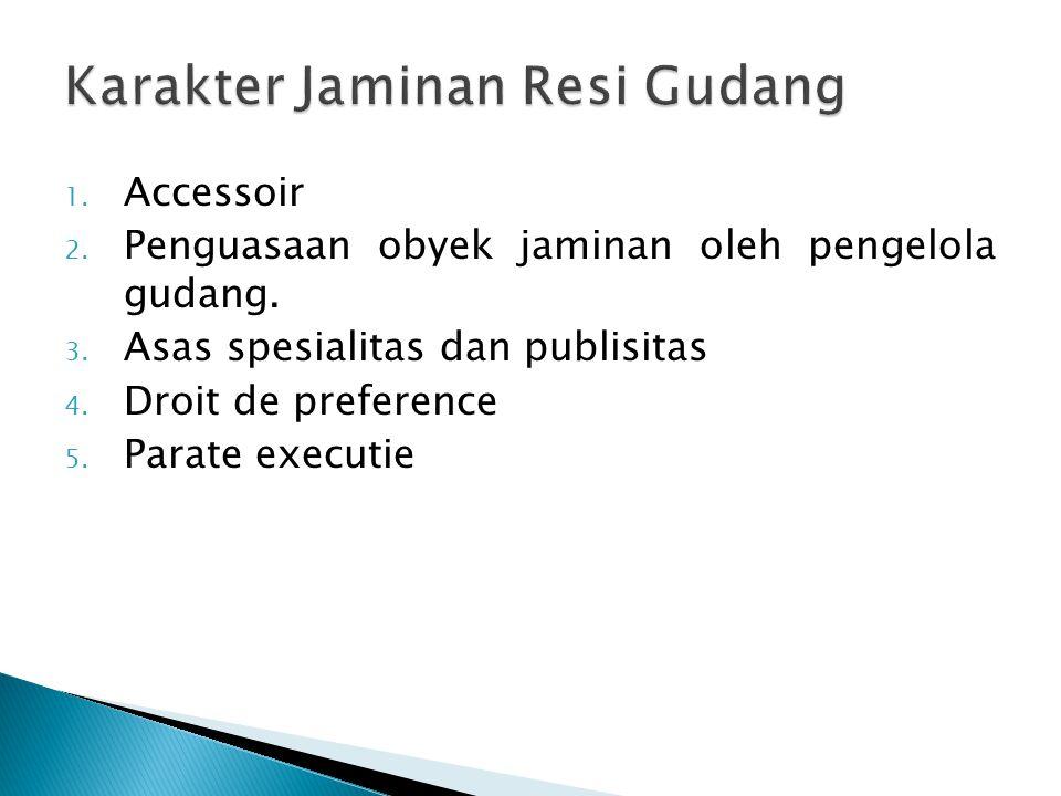 Karakter Jaminan Resi Gudang