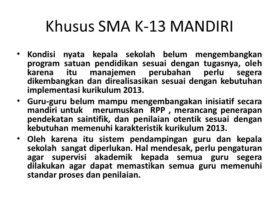Khusus SMA K-13 MANDIRI
